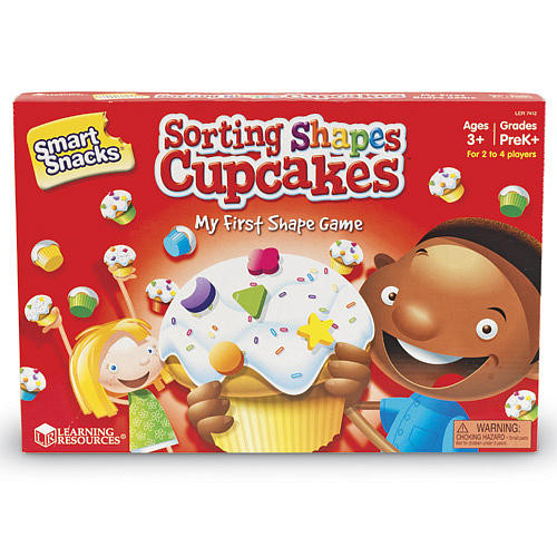 Learning Resources Smart Snacks Shape Sorting Cupcakes My First Shape Game