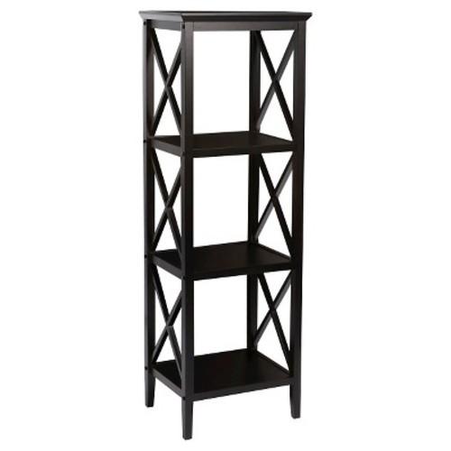 RiverRidge X-Frame Collection 4-Shelf Storage Tower - Black