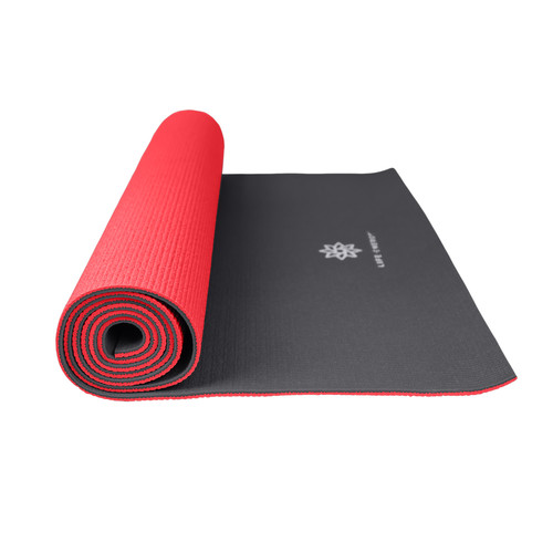 Life Energy 6mm Reversible Yoga Mat Eco Friendly - Ruby