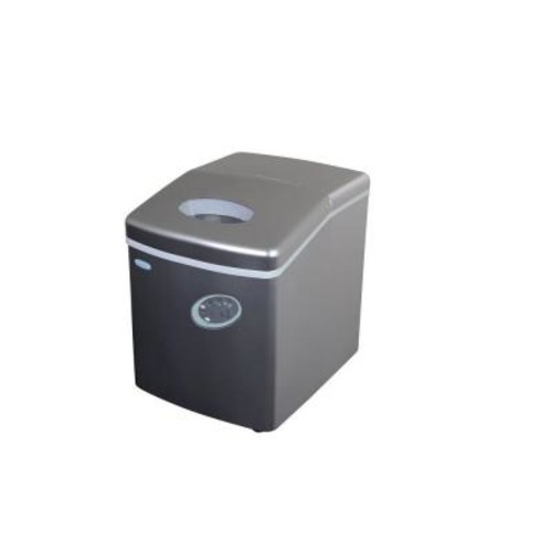 Air 28 lb. Freestanding Ice Maker in Silver
