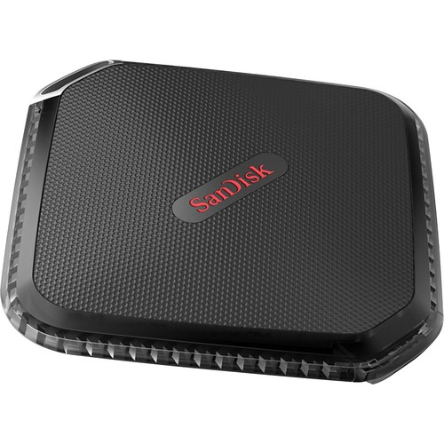 SanDisk - Extreme 500GB External USB 3.0 Portable SSD - Black
