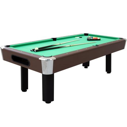 Sportcraft 8' Bay Shore Green Felt/Brown Finish Billiard Table w/Table Tennis Top