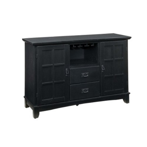 Arts and Crafts Dining Buffet Wood/Black - Home Styles