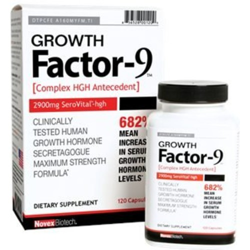 Novex Biotech Growth Factor 9 - 120 capsules
