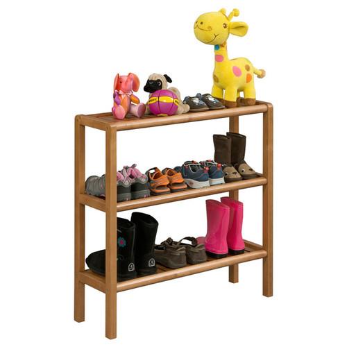 Ridge Home Abingdon Cinnamon Solid Birch Wood 3-shelf Console/ Shoe Rack