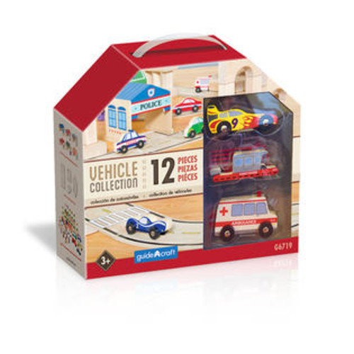 Guidecraft Usa Wooden Vehicle Collection Set Of 12
