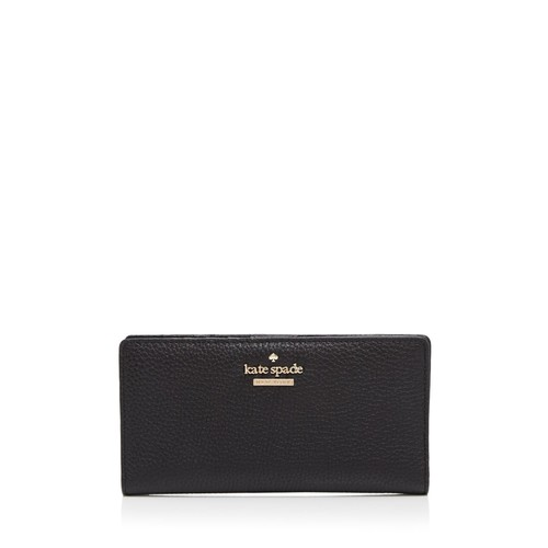 KATE SPADE NEW YORK Jackson Street Stacy Pebbled Leather Continental Wallet