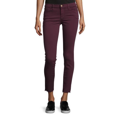 FRAME Le Skinny De Jeanne Raw Edge Jeans, Mahogany
