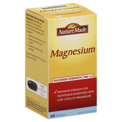 Maximum Strength Magnesium 500 mg, 60 Softgels