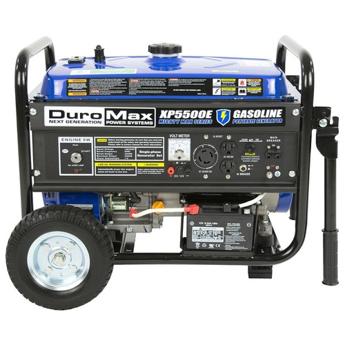 Duromax 4,500-Watt 7.5 HP Portable Electric Start Gasoline Generator with Wheel Kit