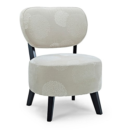 Dwell Home Sphere Accent Chair in Ivory Sunflower