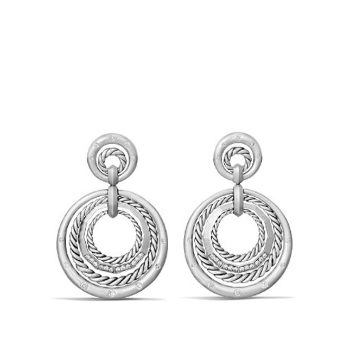 Stax Drop Earrings with Diamonds