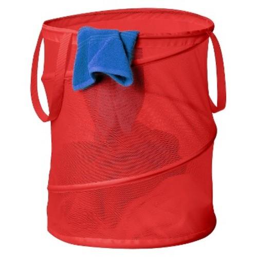 Honey-Can-Do HMP-01261 Pop-Up Mesh Spiral Hamper, Large, Red [Red]