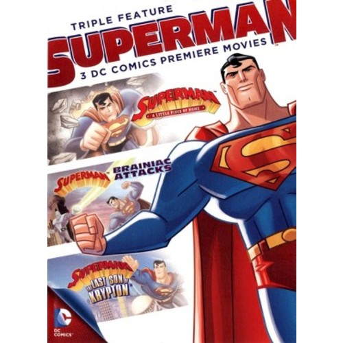 DC Comics Superman Triple Feature: A Little Piece Of Home / Brainiac Attacks / The Last Son Of Krypton (Full Frame)
