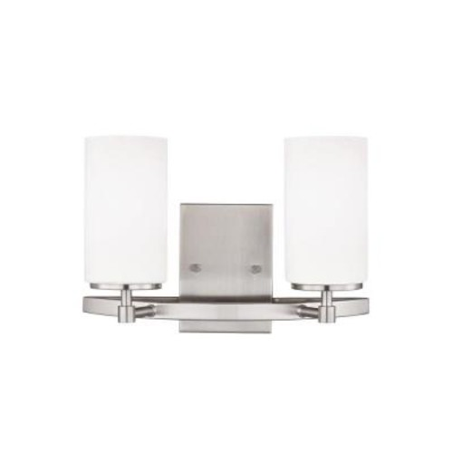 Sea Gull Lighting Alturas 2-Light Brushed Nickel Vanity Light