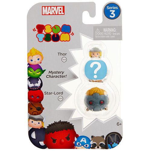 Marvel Tsum Tsum Series 3 3 Pack Mini Figures - Thor, Mystery Figure and Star-Lord