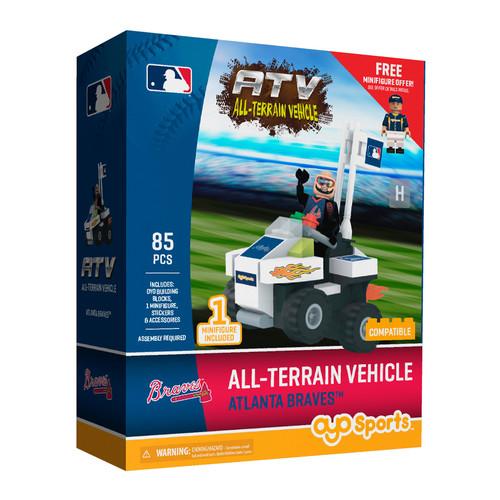 OYO Sports MLB All-Terrain Vehicle with Super Fan Atlanta Braves Building Set