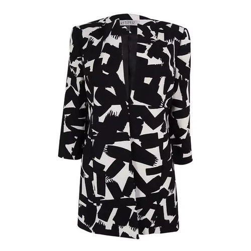 Kasper Women's Collarless Printed Jacket [option : 6P]
