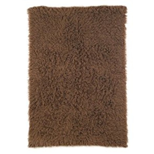 NuLoom Standard Shag Greek Flokati 5 Foot x 7 Foot Wool Area Rug, Milk Chocolate