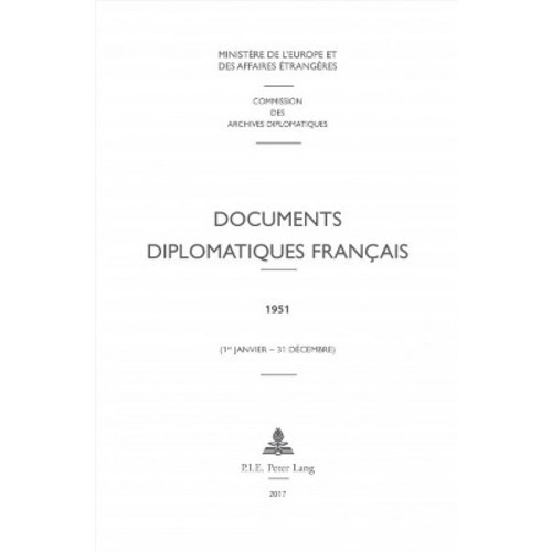 Documents Diplomatiques Franais : 1951 (1er Janvier-31 Dcembre) (New) (Hardcover)