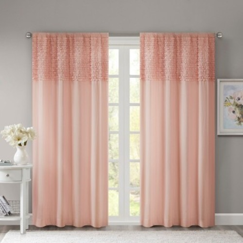 Laurie Cotton Horizontal Ruffle Curtain Panel
