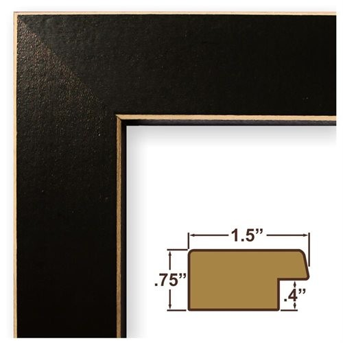 8.5x11 Picture / Poster Frame, Wood Grain Finish, 1.5