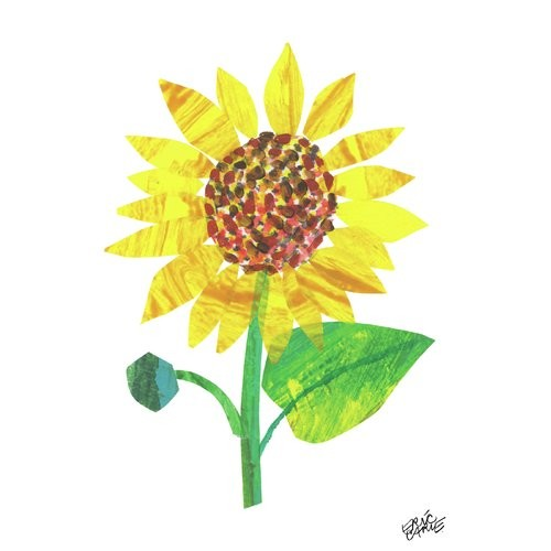 'Yellow Sunflower' by Eric Carle Painting Print on Wrapped Canvas
