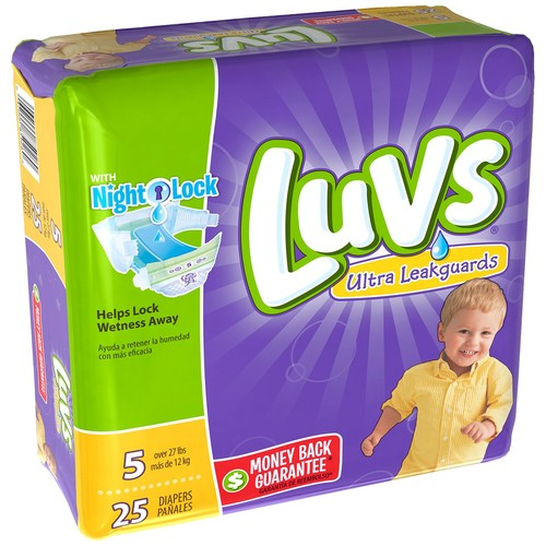 Luvs Ultra Leakguards Diapers with Night Lock [Number Included : 104]