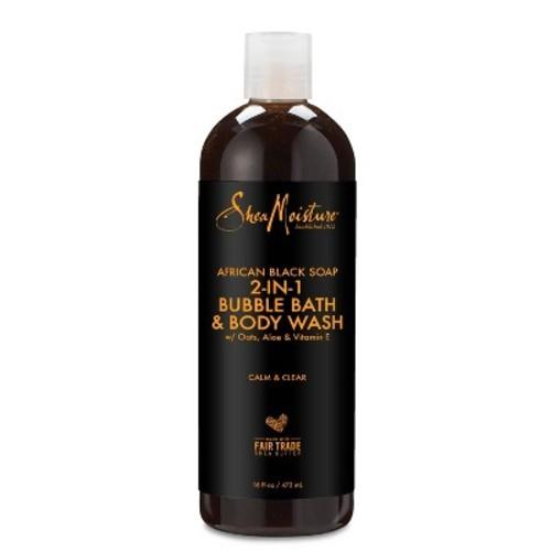 SheaMoisture African Black Soap 2-in-1 Bubble Bath & Body Wash - 16 oz
