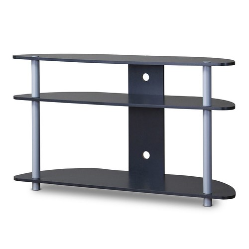 Baxton Studio Orbit TV Stand [Dark Brown, 13.5Lx38.6Wx32.75H]