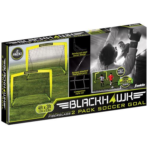 Franklin Sports 4' x 3' Blackhawk Soccer Goal, 2 pk.