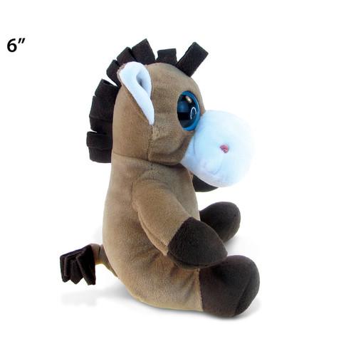 Puzzled Plush 6-inch Big-eye Horse Stuffed Toy
