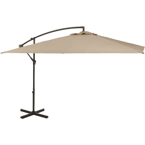 Outdoor Expressions 10 Ft. Square Steel Offset Patio Umbrella - TJAUL-005A-300-300 TAN