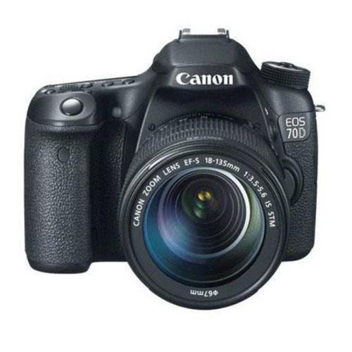 Canon EOS 70D DSLR with 18-135mm STM Lens and Printer Kit 8469B016 Z