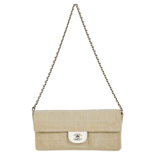 Chanel Patent Beige Small Flap Bag
