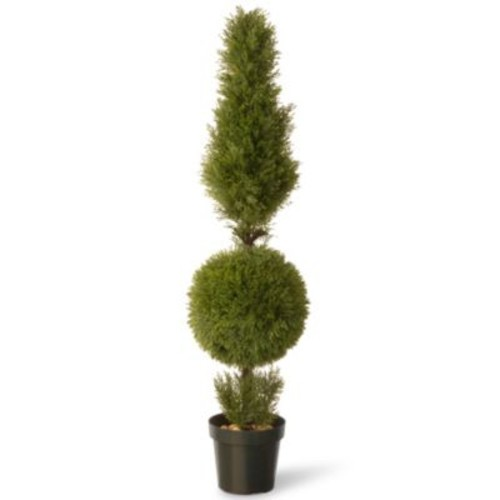 National Tree 60-Inch Juniper Cone and Ball Plant with Green Pot