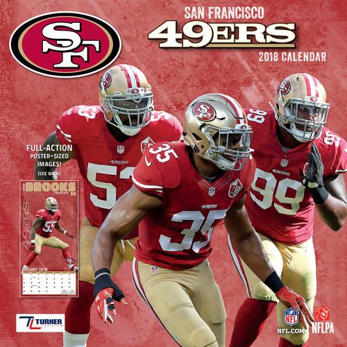 Turner 2018 NFL San Francisco 49ers Wall Calendar