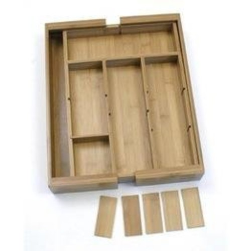 Lipper International Lipper 8882 Bamboo Organizer Expandable Adjustable With 6