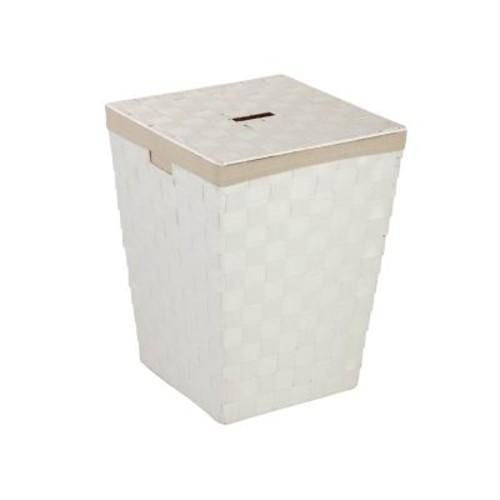 Honey Can Do Paper Rope Hamper, White (HMP-03732)