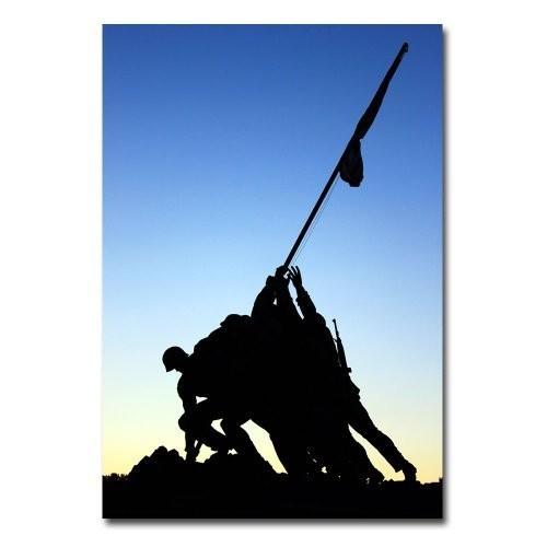 Iwo Jima Memorial by Gregory O'Hanlon, 16x24-Inch Canvas Wall Art [16 by 24-Inch]