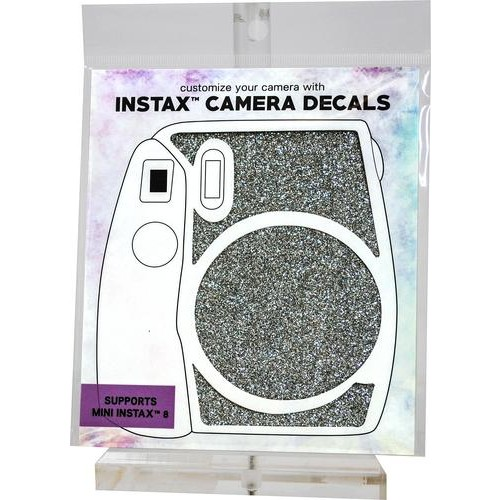 ATNY - Decals for Instax Mini 8/9 Camera - Silver Glitter