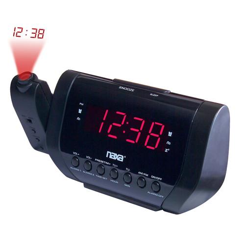 Naxa 97086505M Projection Dual Alarm Clock