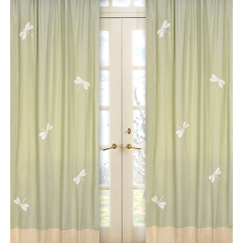 Sweet Jojo Designs Green Dragonfly Dreams Collection Window Panels