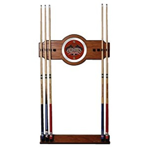 NCAA Brown University Billiard Cue Rack with Mirror