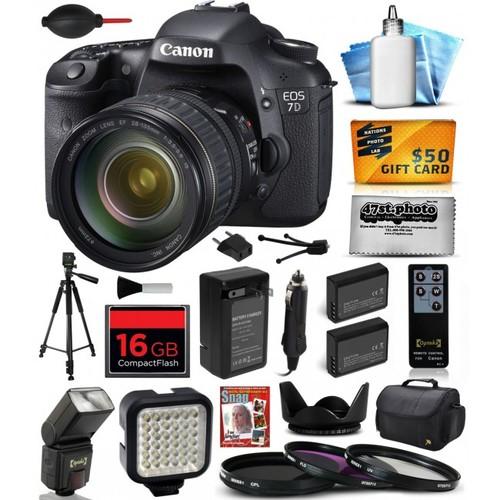 Canon EOS 7D DSLR SLR Digital Camera with 28-135mm Lens (16GB Exclusive Bundle)