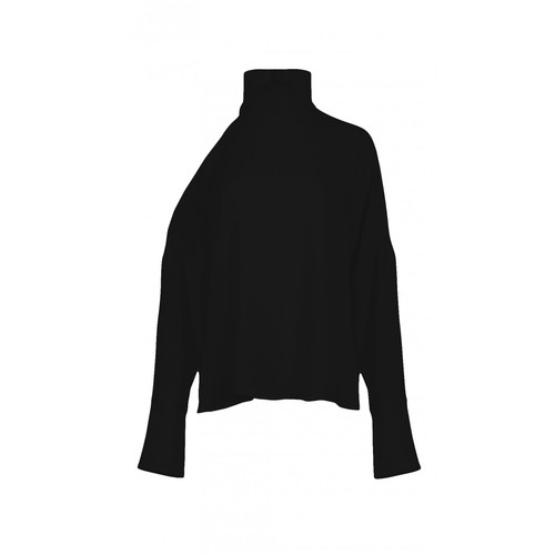 TIBI Savanna Crepe Asymmetrical Cut Out Top