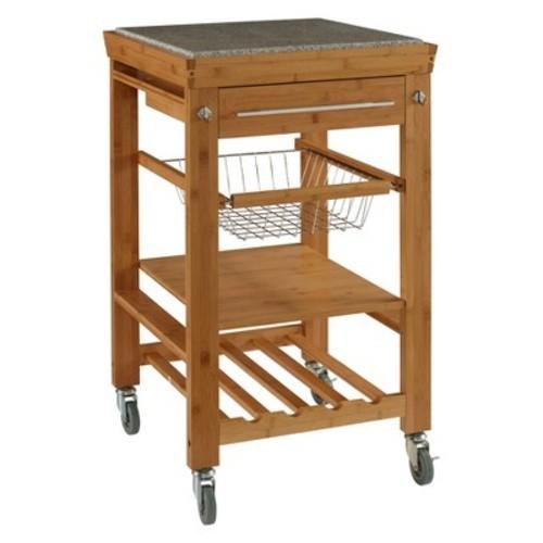 Cameron Kitchen Cart Granite Top - Linon