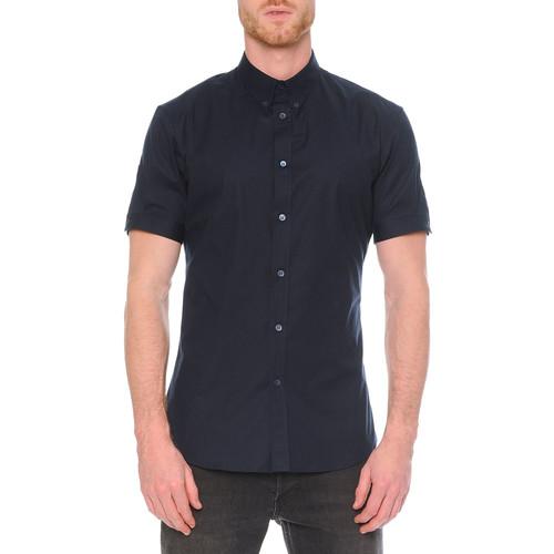 ALEXANDER MCQUEEN Short-Sleeve Button-Down Shirt, Navy