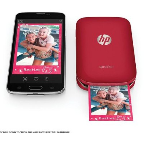 HP Sprocket Portable Photo Printer, Red