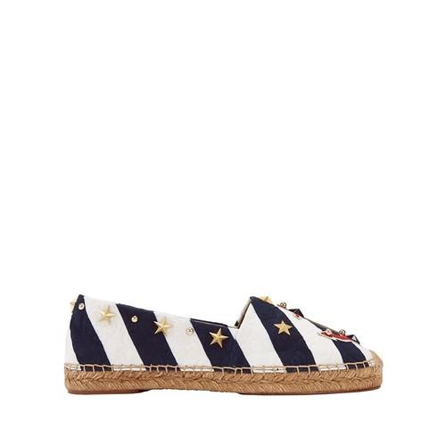 DOLCE & GABBANA Nautical Embellished Flat Espadrilles